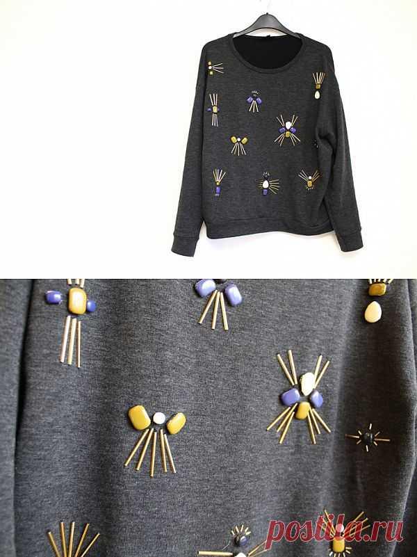 Расшитый свитшот / Декор / Модный сайт о стильной переделке одежды и интерьера