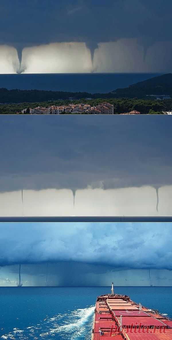 Тройное торнадо в Хорватии: сила стихии
