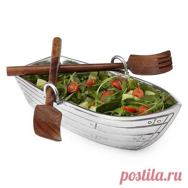 Еда в креативном оформлении всегда вкуснее. Салатница-лодка. $117 USD