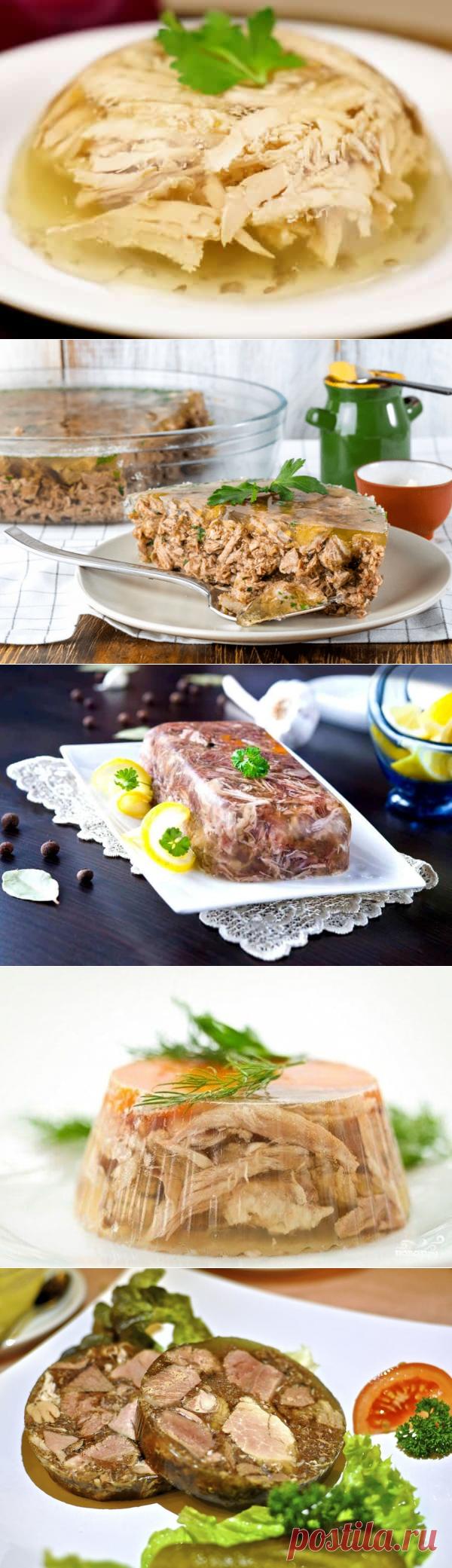 Холодец из свиных ножек: с рулькой, с курицей, с говядиной