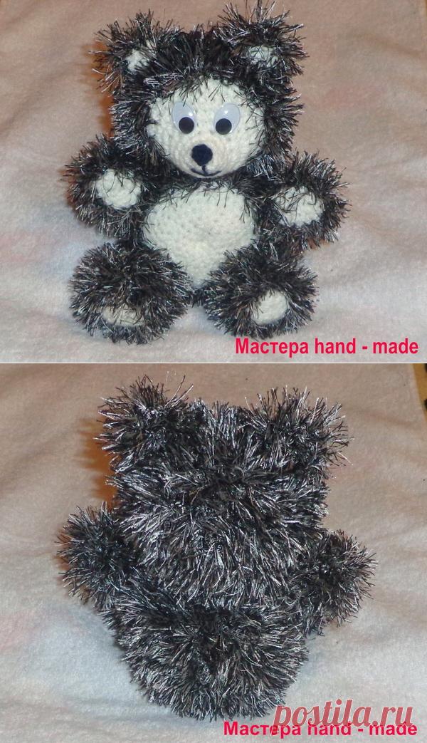 вязаные игрушки как связать мишку крючком мастера Hand Made