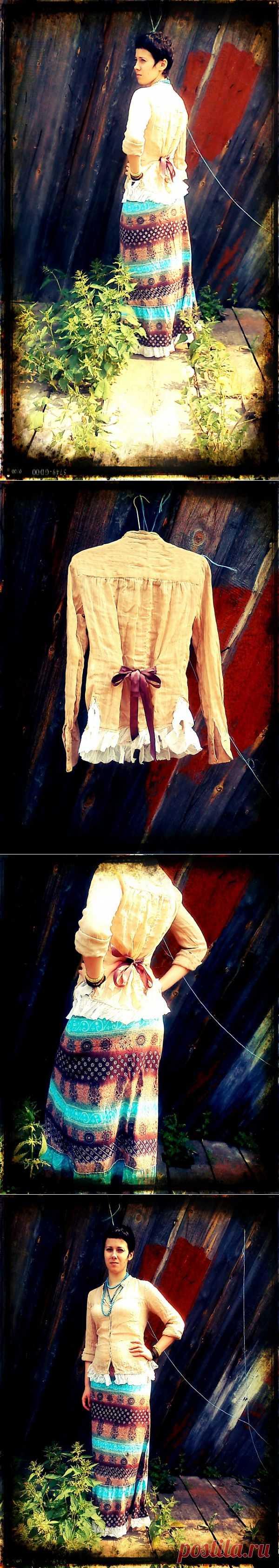 Моя переделка в стиле БОХО (трафик) / Блузки / Модный сайт о стильной переделке одежды и интерьера