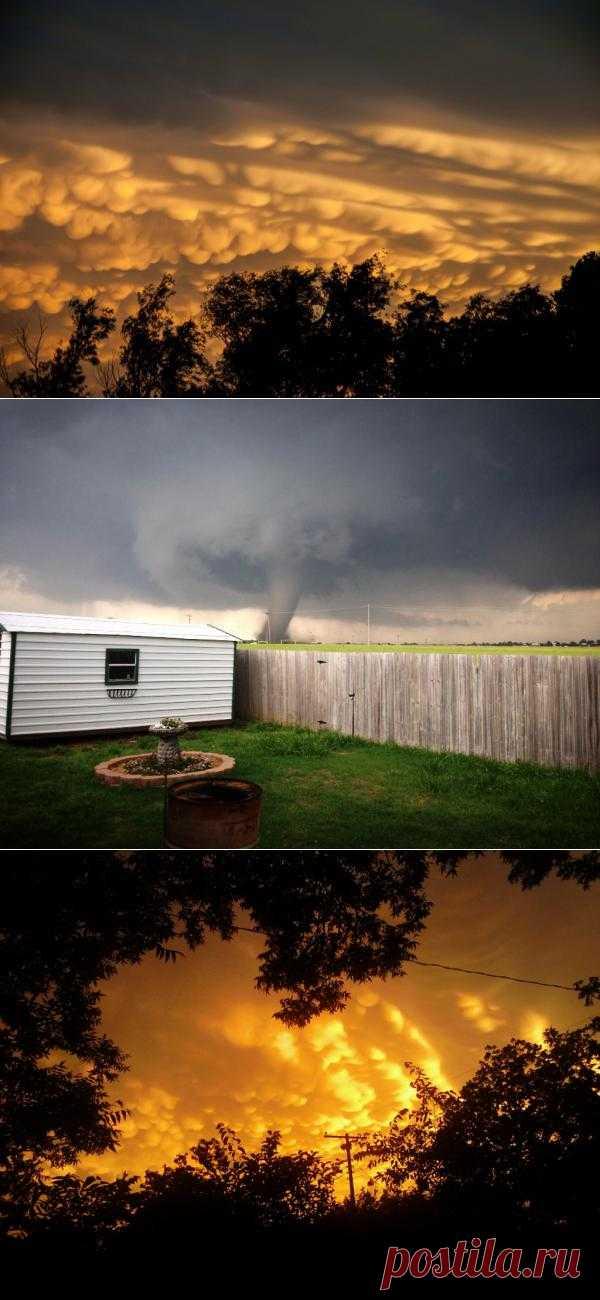 Апокалиптичные кадры торнадо сделанные жителями Оклахомы