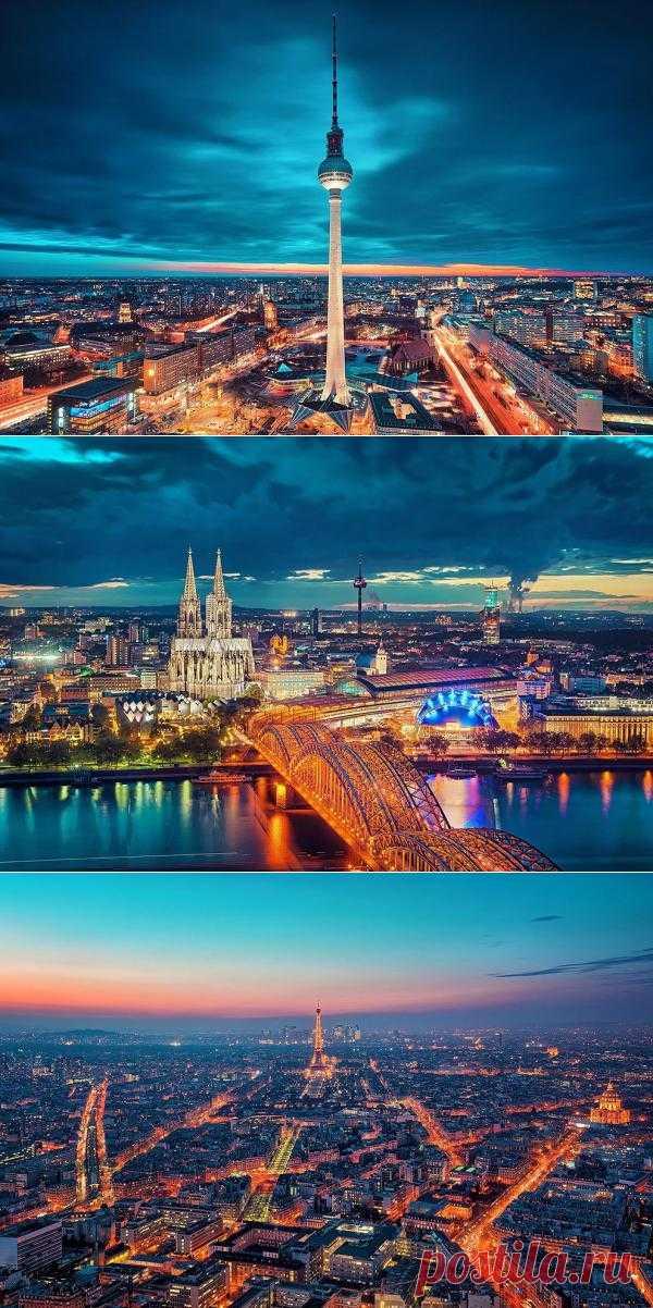 Небеса над вечерними городами