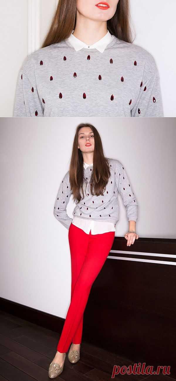 Слёзы на свитере / Декор / Модный сайт о стильной переделке одежды и интерьера