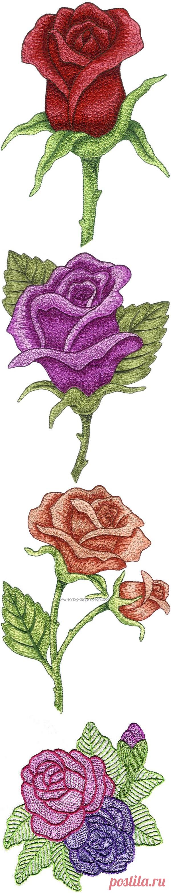 Необычные цветочные вышивки