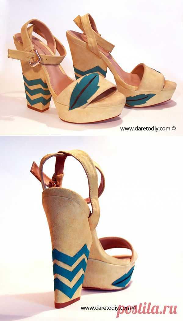 Аппликация на босоножках (DIY) / Обувь / Модный сайт о стильной переделке одежды и интерьера