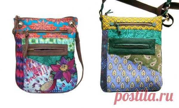 Повтор сумки Desiqual с этническим акцентом / Сумки, клатчи, чемоданы / Модный сайт о стильной переделке одежды и интерьера