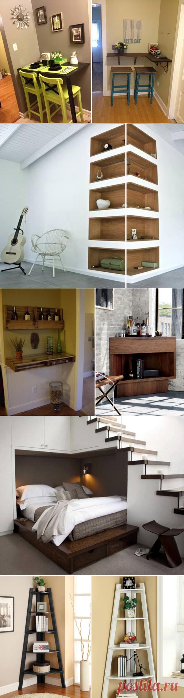 Несколько полезных идей для грамотного использования углового пространства в доме и квартире — Pro ремонт