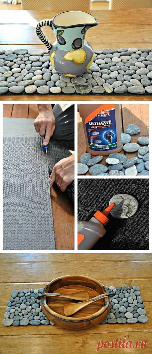 Массажный коврик своими руками из морской гальки.
