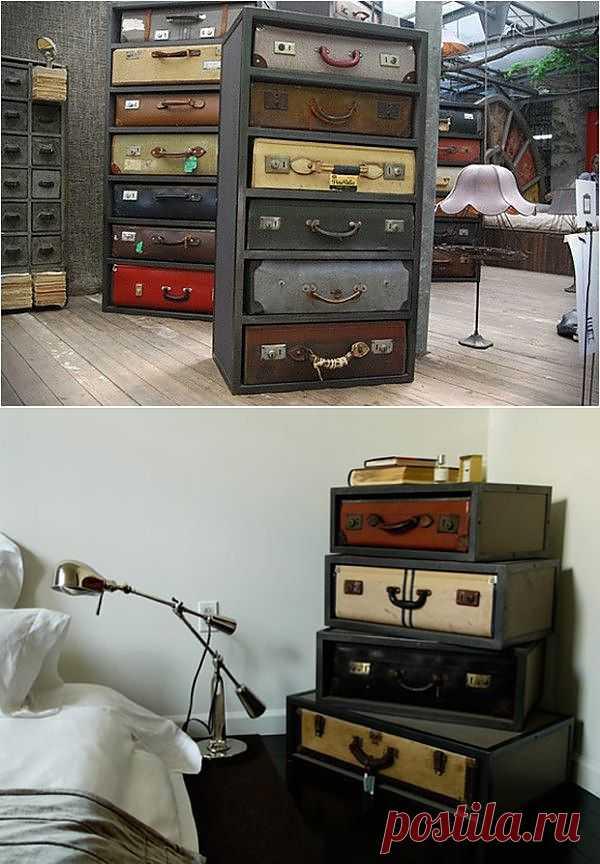 Идея со старыми чемоданами / Мебель / Модный сайт о стильной переделке одежды и интерьера