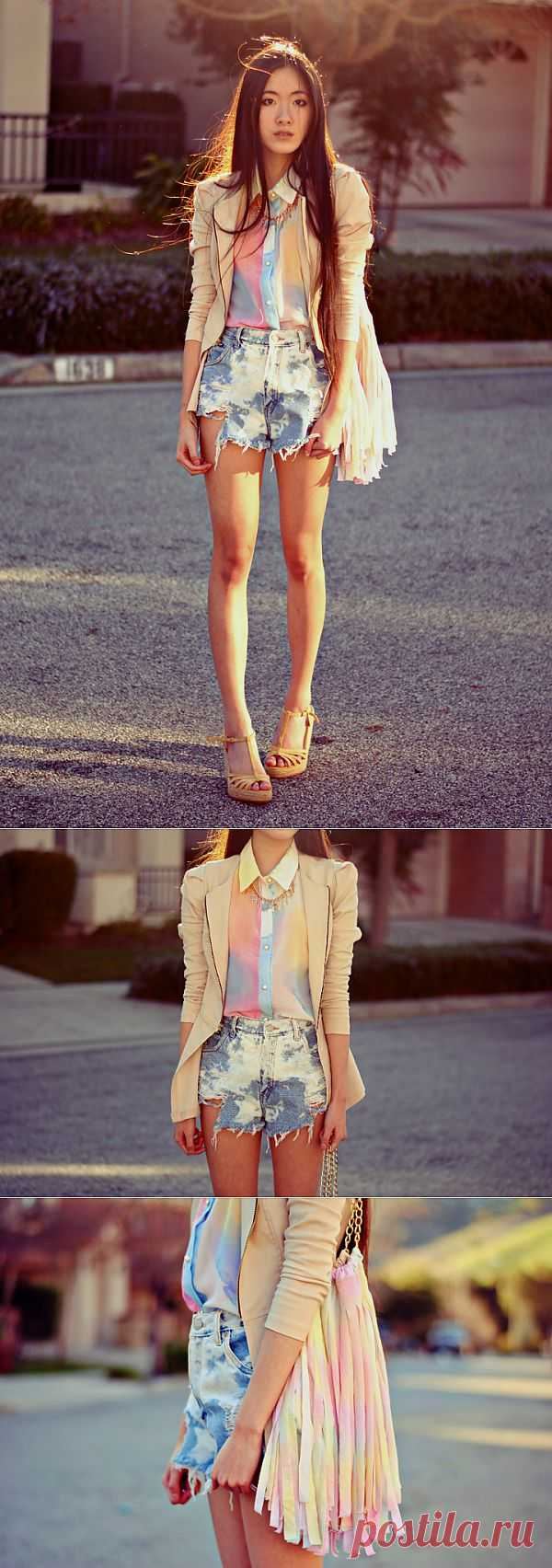 Образ с множественной покраской / Пачкаем / Модный сайт о стильной переделке одежды и интерьера