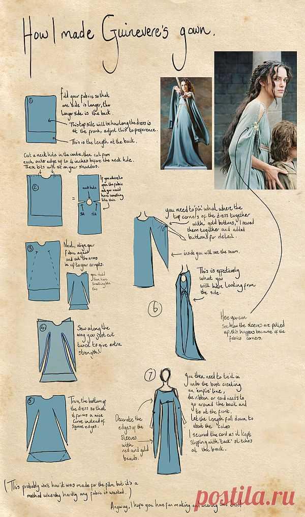Сказочное платье лесной нимфы или средневековой принцессы | Отлично! Школа моды, декора и актуального рукоделия