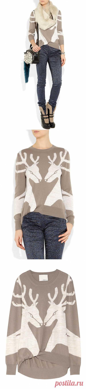 Свитер с оленями PHILLIP LIM / Вязание / Модный сайт о стильной переделке одежды и интерьера