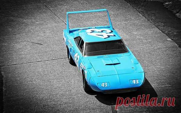 """Plymouth Superbird - спортивный автомобиль, выпускавшийся в 1970 году компанией Plymouth. По сути, являлся высокомодифицированной """"смеси"""" Plymouth Road Runner и Dodge Charger Daytona. Superbird разрабатывался для гонок серии NASCAR, а если быть точнее, заменить 1969 Dodge Charger Daytona. Одним из основных мотивирующих факторов создания такого автомобиля было """"заманить"""" отличного пилота Ричарда Петти  обратно в Plymouth, который станет на Superbird неоднократным победителем в"""