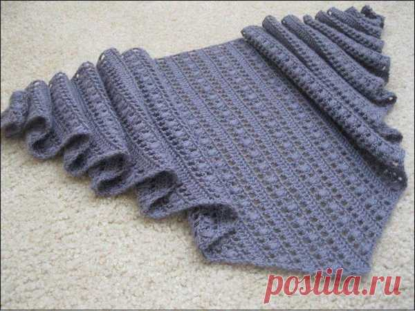 ажурный шарф спицами схема и описание необычные