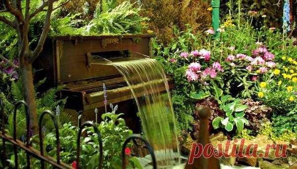 Старое пианино обретет новую жизнь в вашем саду...