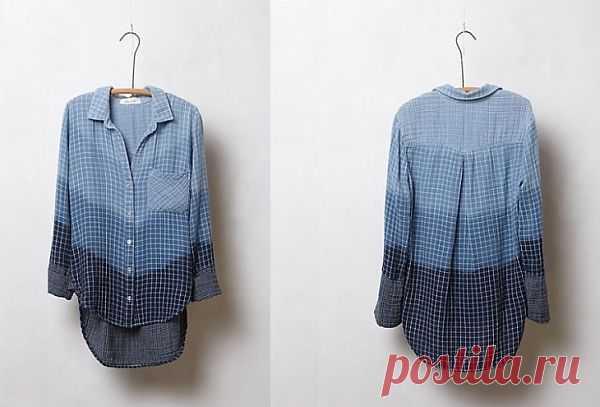 Рубашка Аnthropologie / Вещь / Модный сайт о стильной переделке одежды и интерьера
