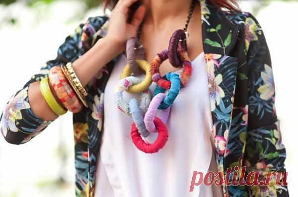 Колье из браслетов / Украшения и бижутерия / Модный сайт о стильной переделке одежды и интерьера