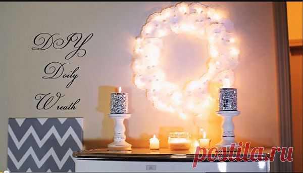 Рождественский венок из салфеток / Новогодний интерьер / Модный сайт о стильной переделке одежды и интерьера