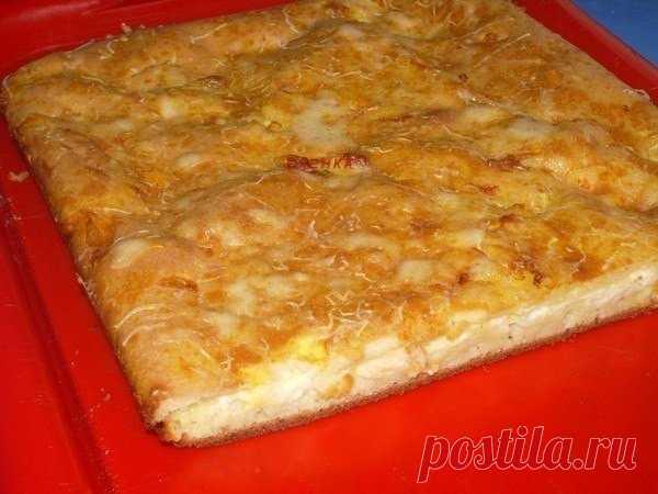 Вкуснейший наливной пирог с сыром