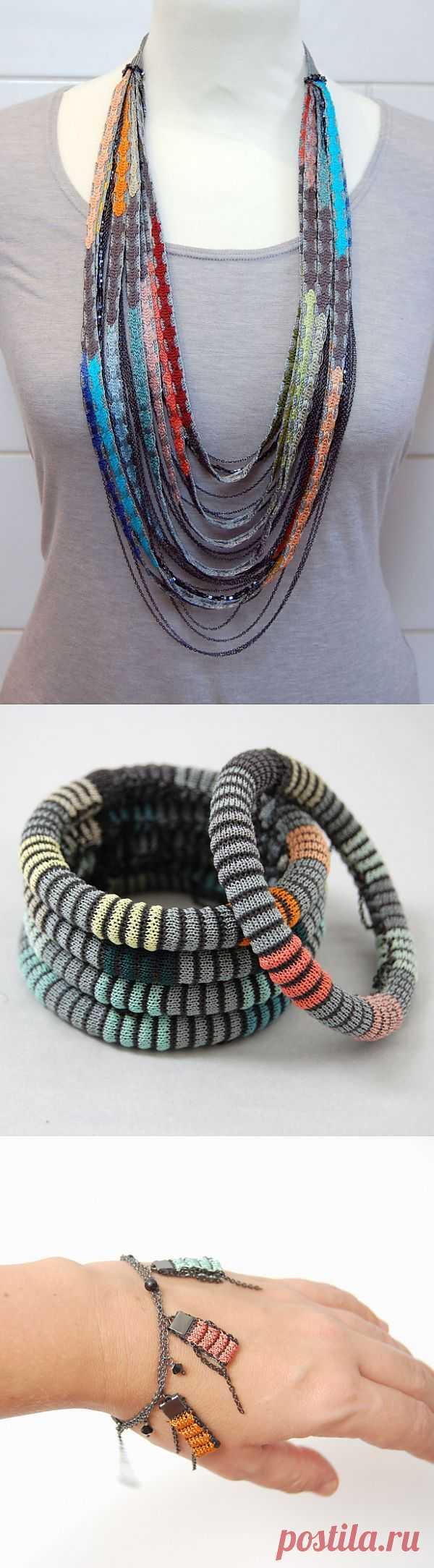 Текстильные украшения (трафик) / Украшения и бижутерия / Модный сайт о стильной переделке одежды и интерьера