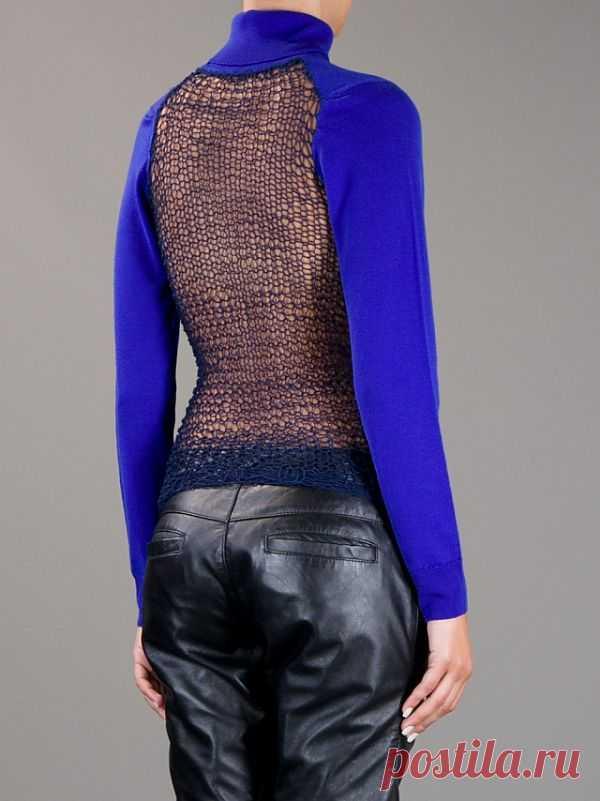 Вязаная спинка / Декор спины / Модный сайт о стильной переделке одежды и интерьера