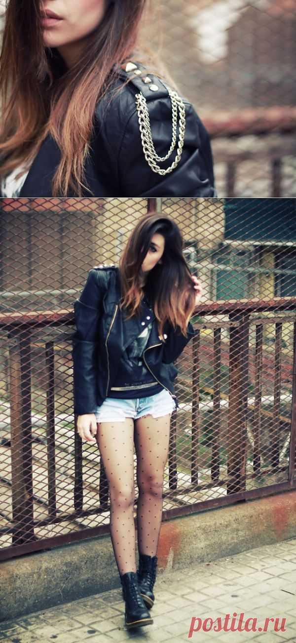 Быстрый декор косухи / Курточные переделки / Модный сайт о стильной переделке одежды и интерьера