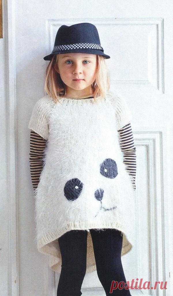 Туника с мордочкой панды.