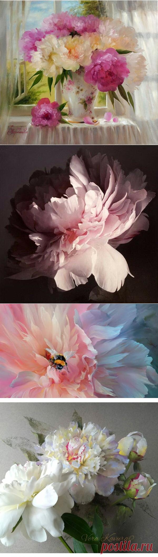 Пионы в живописи   Несколько минут истинного удовольствия!   Позитив красок   Яндекс Дзен