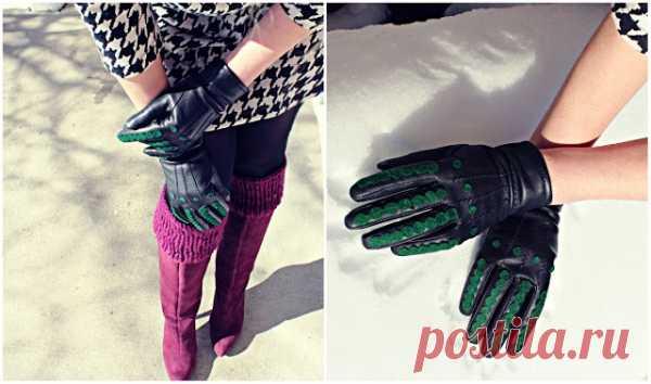 Декор кожаных перчаток (Diy) / Перчатки и варежки / Модный сайт о стильной переделке одежды и интерьера