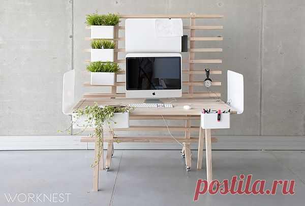 Стенка, стол или рабочее место. Дизайнерская модульная мебель Worknest | Дом-Цветник