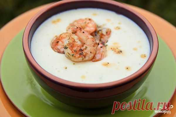 Сливочный суп с цветной капустой, картофелем и креветками - пошаговый кулинарный рецепт на Повар.ру