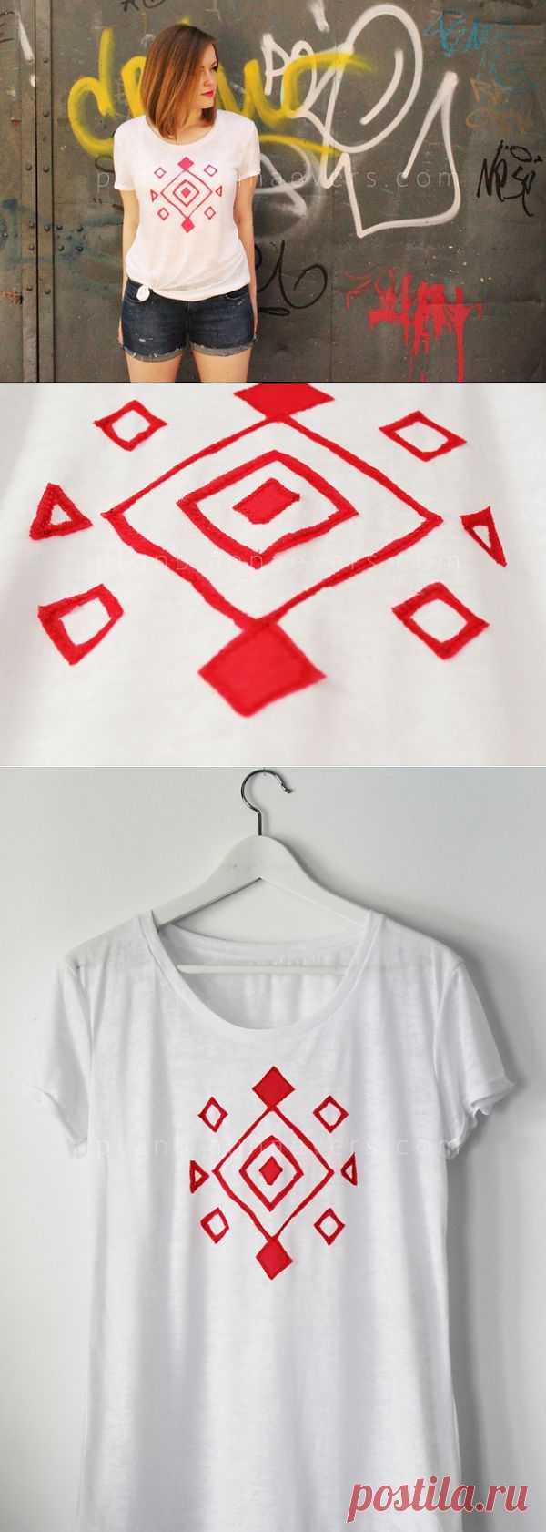 Геометрическая аппликация (Diy) / Аппликации / Модный сайт о стильной переделке одежды и интерьера