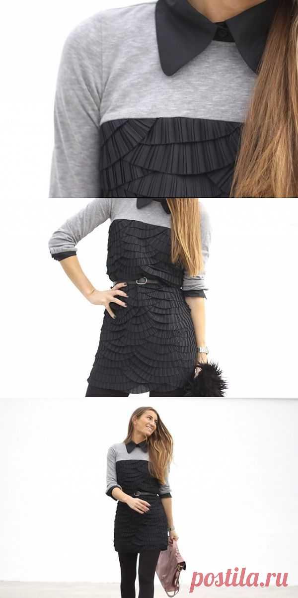Тишотка + рюши + воротник = ? / Вещь / Модный сайт о стильной переделке одежды и интерьера