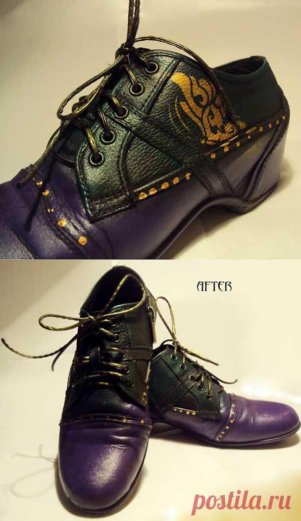 Превращаем старые туфли в необычный аксессуар / Обувь / Модный сайт о стильной переделке одежды и интерьера