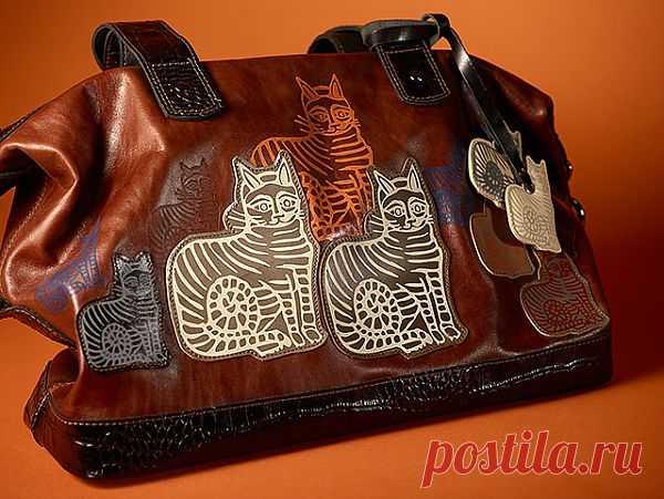 Сумка для любителей кошек / Сумки, клатчи, чемоданы / Модный сайт о стильной переделке одежды и интерьера