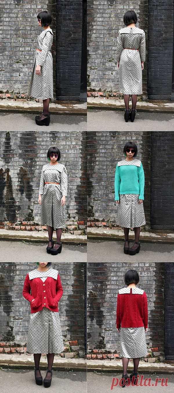 Выпустить воротничек / Как носить? / Модный сайт о стильной переделке одежды и интерьера