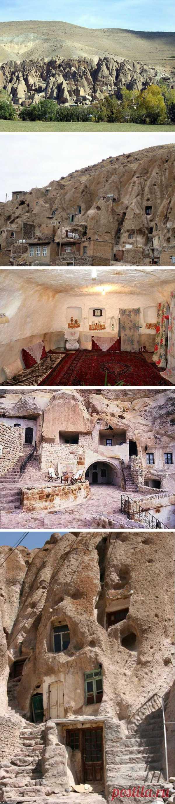 Удивительные дома в скалах! Деревня Кандован, Иран