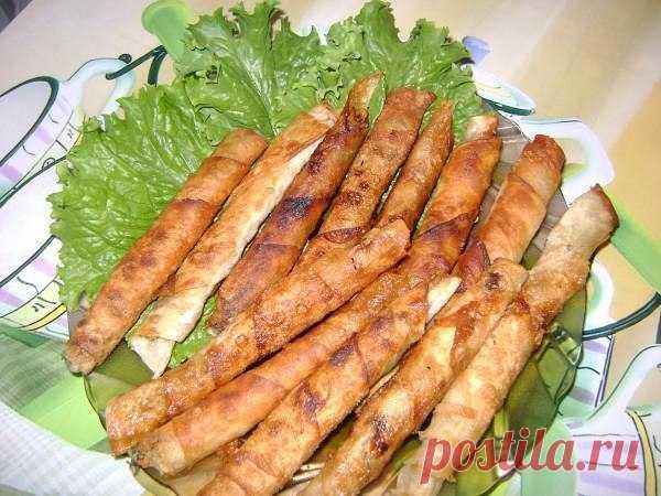 Как приготовить закусочные «сигареллы» из лаваша. - рецепт, ингредиенты и фотографии