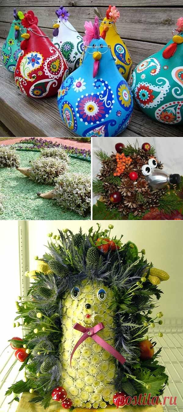 Как самому сделать садовые фигуры