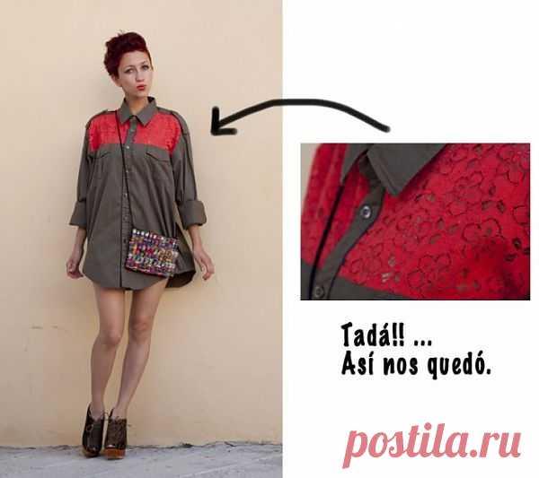Переделка рубашки (DIY) / Рубашки / Модный сайт о стильной переделке одежды и интерьера