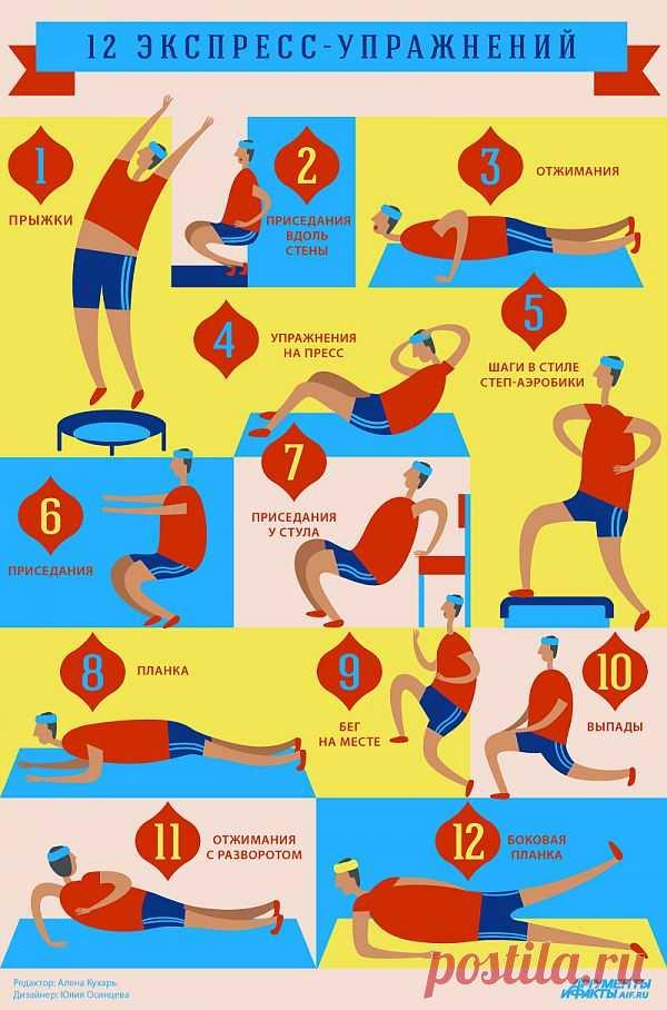 12 упражнений, которые сделают фигуру лучше за 7 минут в день http://aif.mirtesen.ru/blog/43432962147