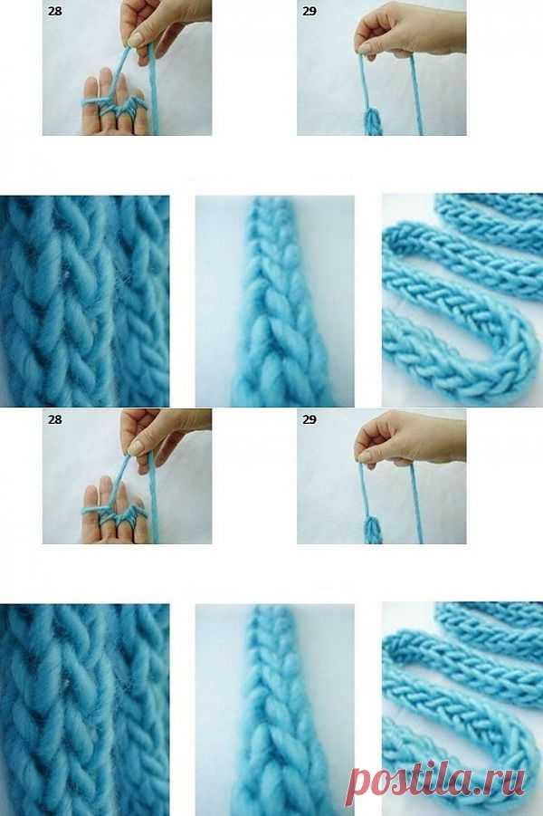 Вязание на пальцах / Вязание / Модный сайт о стильной переделке одежды и интерьера
