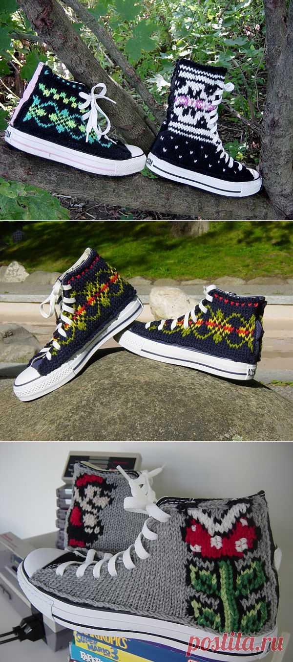 Вязаные кеды (трафик) / Обувь / Модный сайт о стильной переделке одежды и интерьера