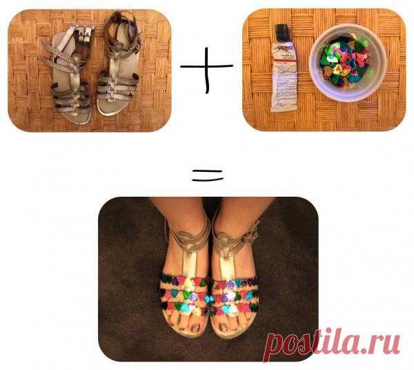 Украшаем летнюю обувь