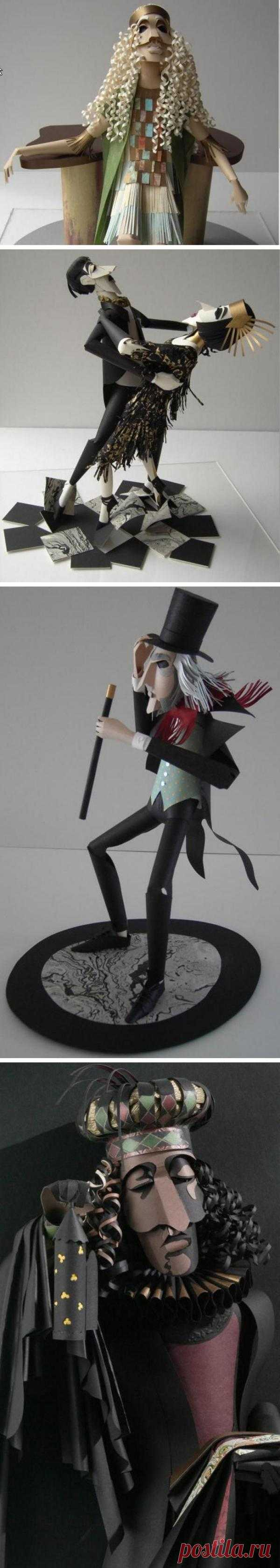 Трехмерные бумажные скульптуры английского дизайнера Шер Кристофер. Ее творения примечательны еще и тем, что сделаны из бумаги собранной из разных уголков планеты.