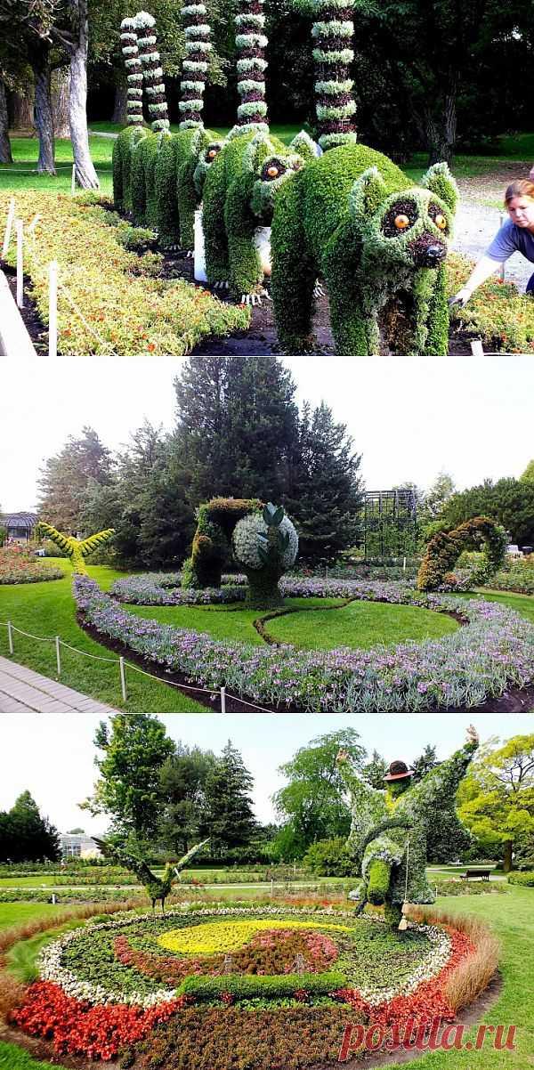Выставка скульптур из растений в ботаническом саду Монреаля (часть 1) | Фотоискусство