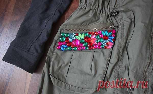 Карман на парке (DIY) / Курточные переделки / Модный сайт о стильной переделке одежды и интерьера