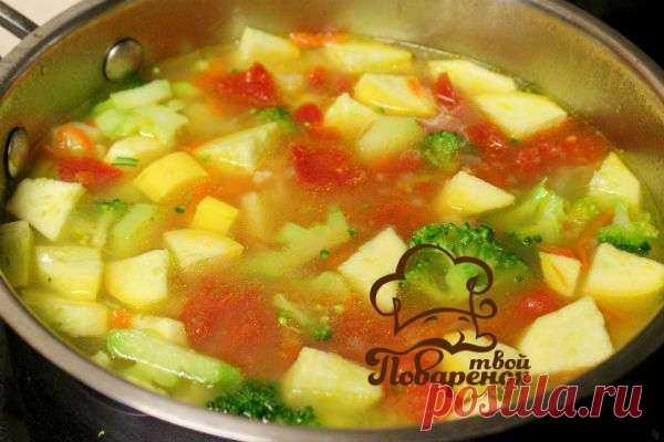 Суп из кабачков и цветной капусты - домашний пошаговый рецепт